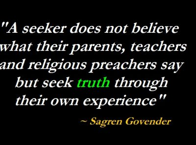 Seek Your Own Truth